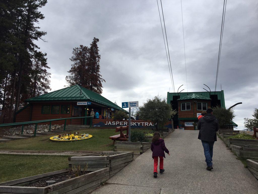 Entrada da estação do Jasper SkyTram.