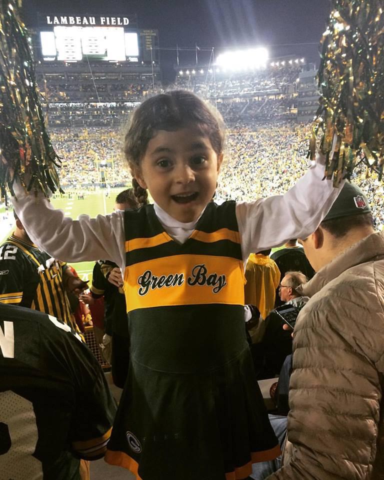 A Bela, de cheerleader dos Green Bay Packers, no Lambeau Field